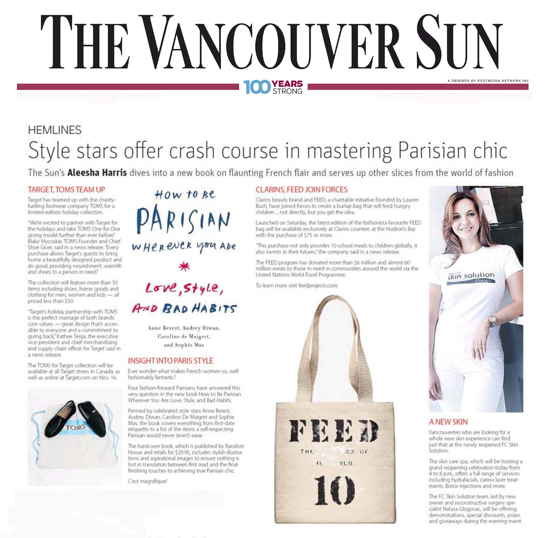 vancouver sun - skin solution